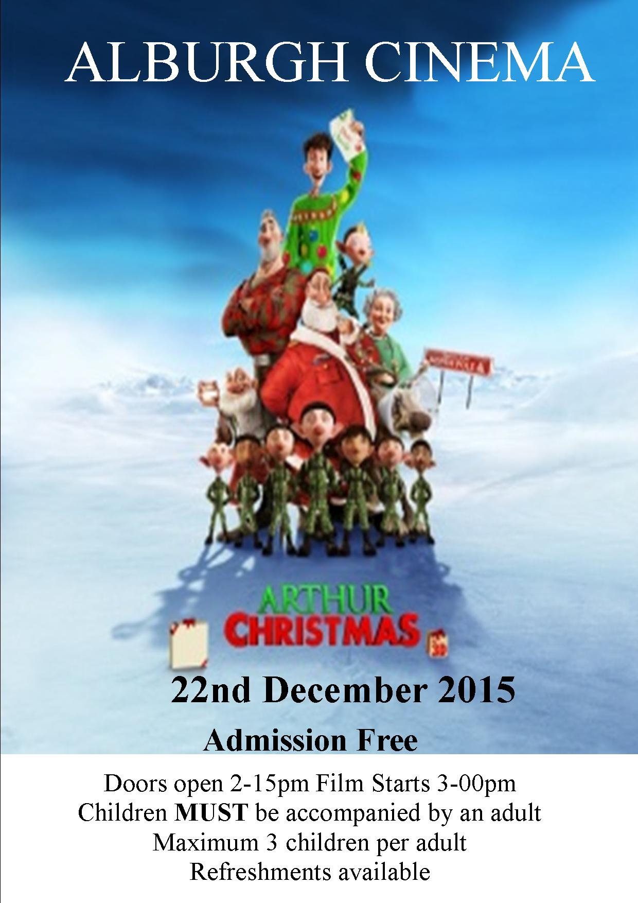 Alburgh Cinema – Arthur Christmas Alburgh